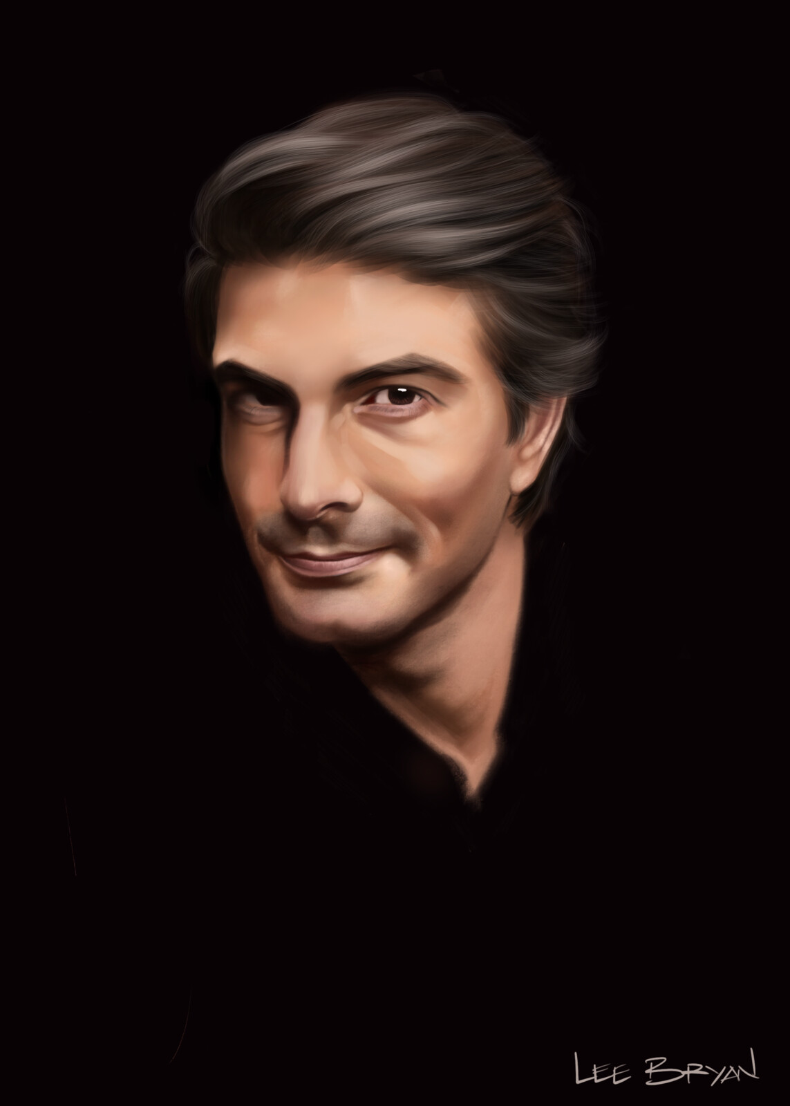 Here's my first painting of the New Year of Brandon Routh - hope you like it!