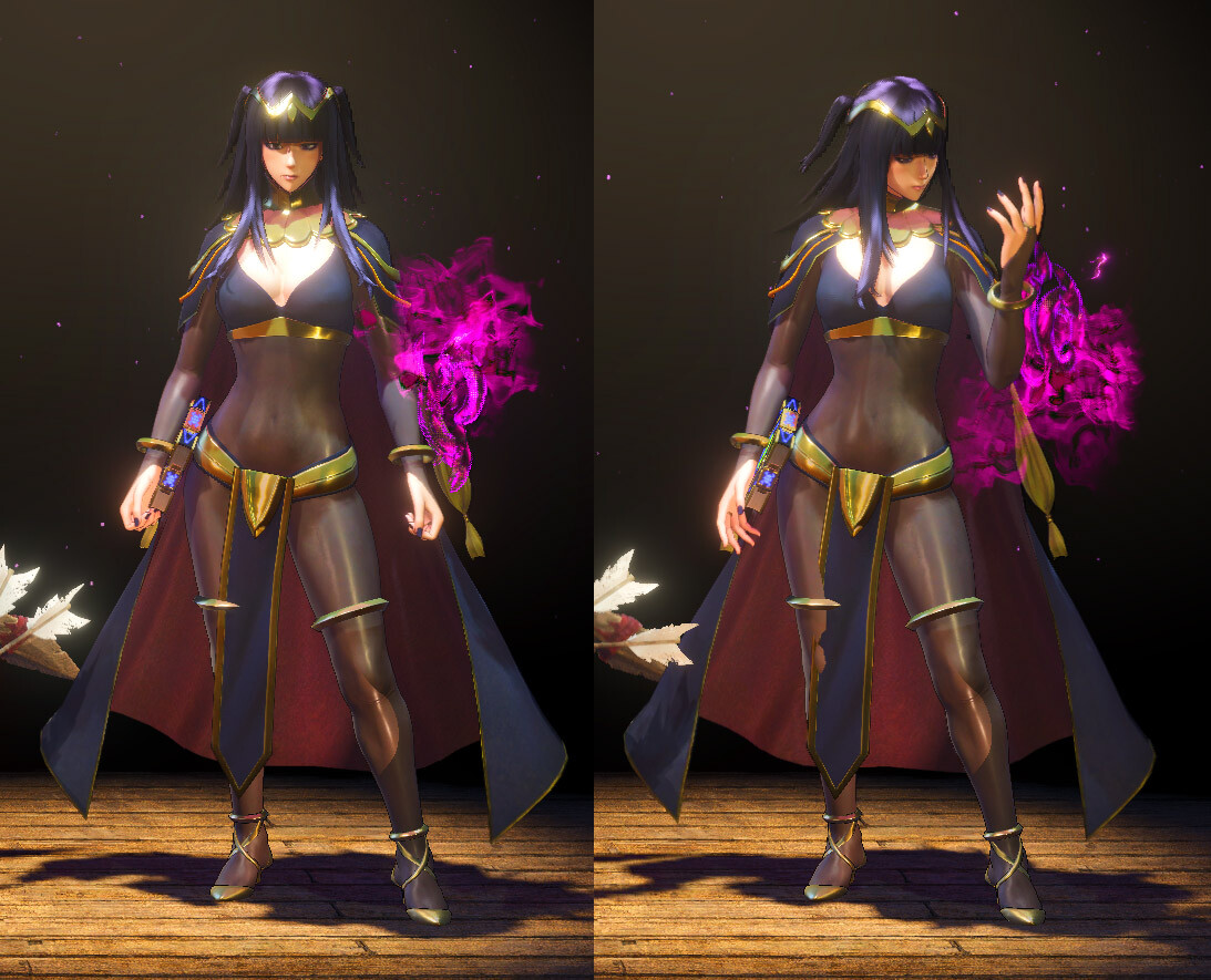 Tharja in the character selection screen.