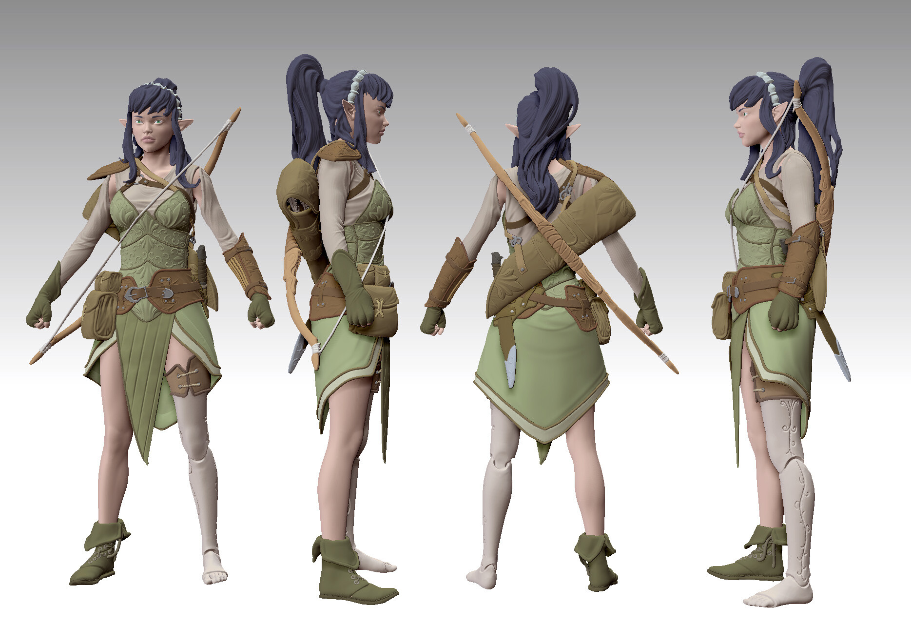 ZBrush preview render - character in neutral pose