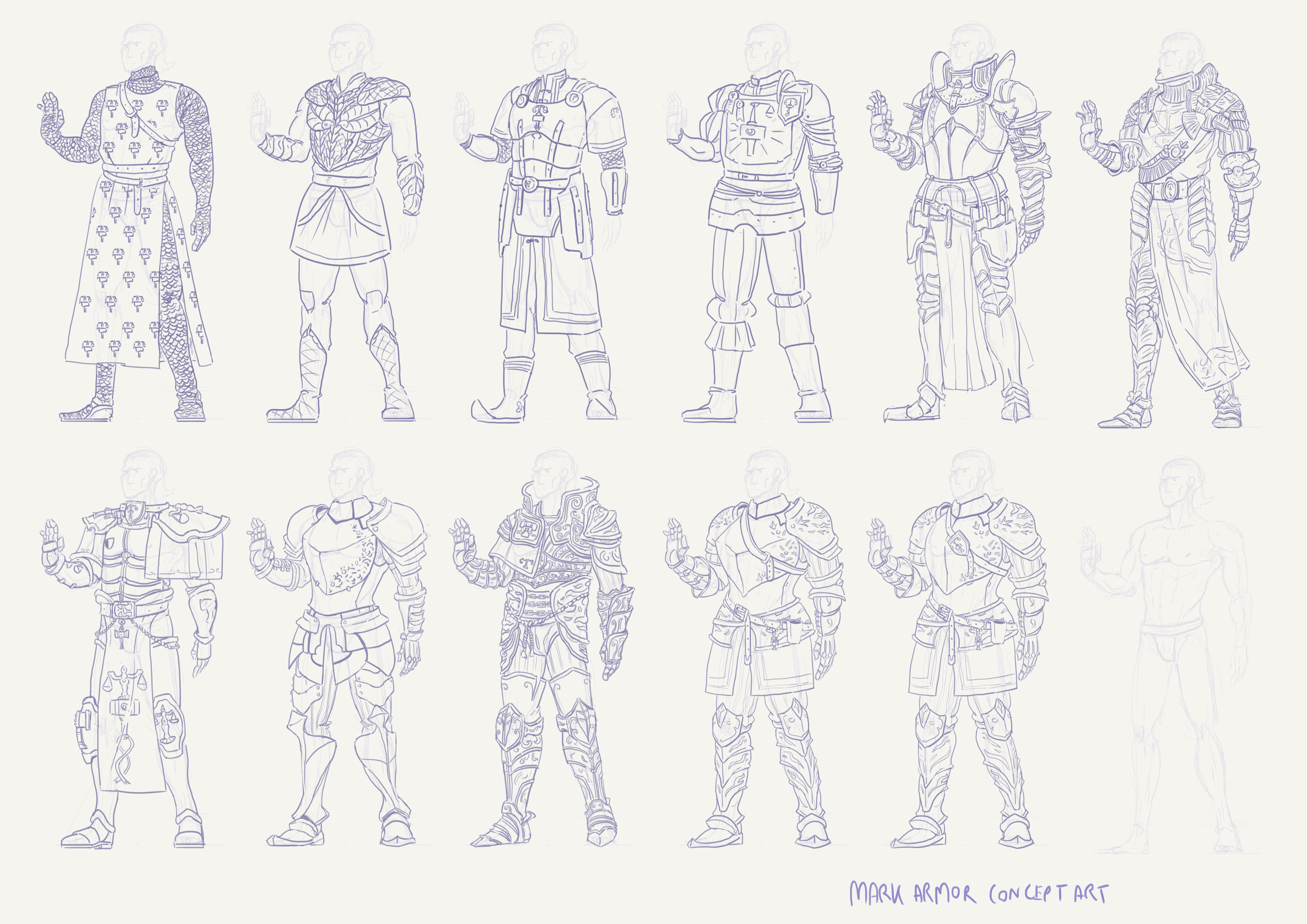 Exploratory armor concept research. It goes from left to right.