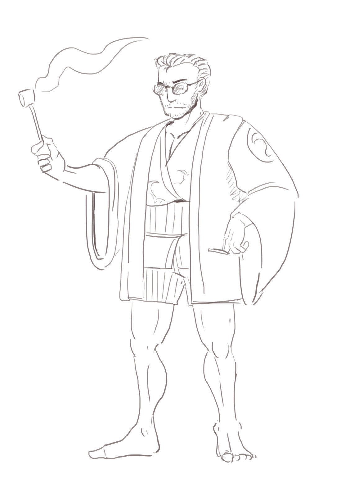 Beach dad character study.