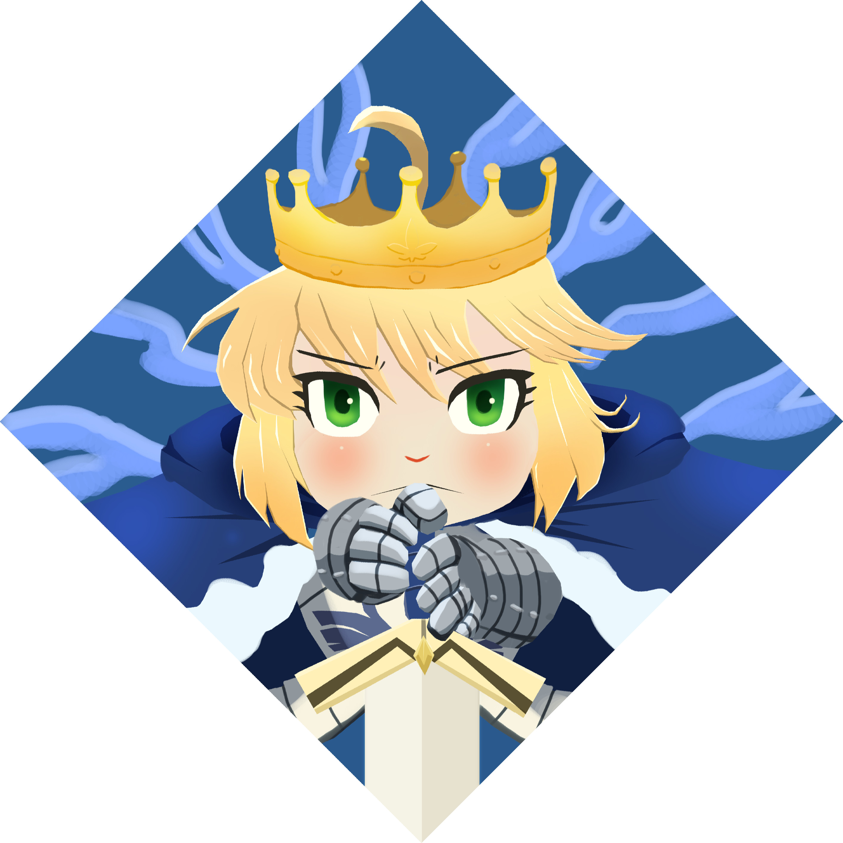 Old Saber painting