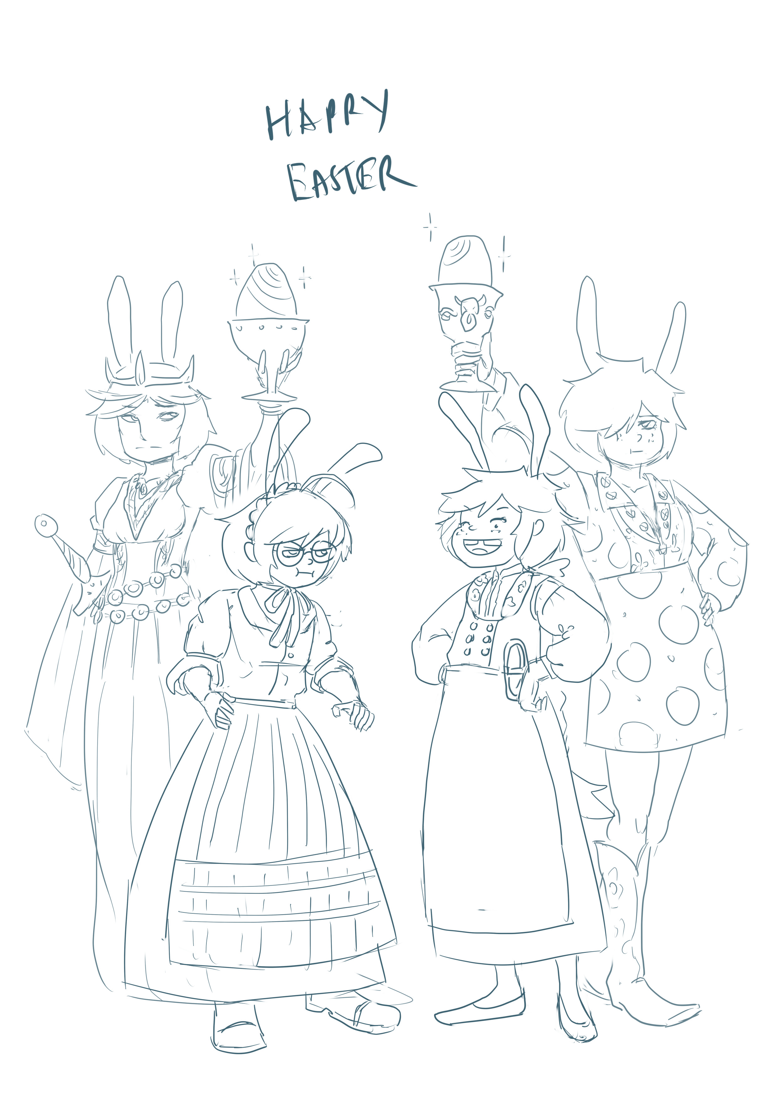 Old Easter pic. Easter is the best time to compare Welsh and Finn dresses.