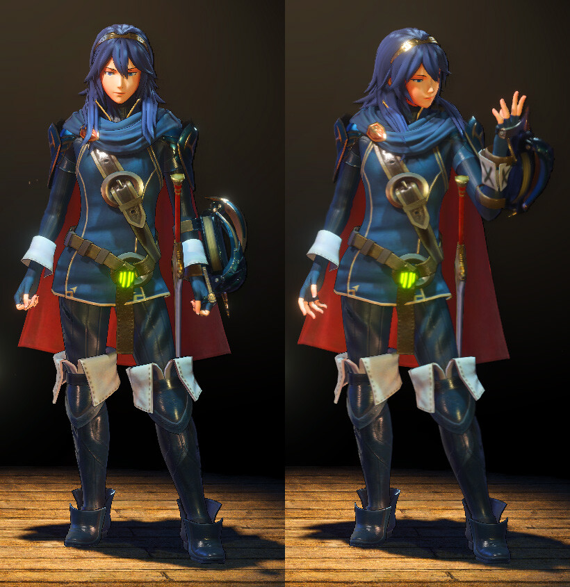 Lucina in the character selection screen.