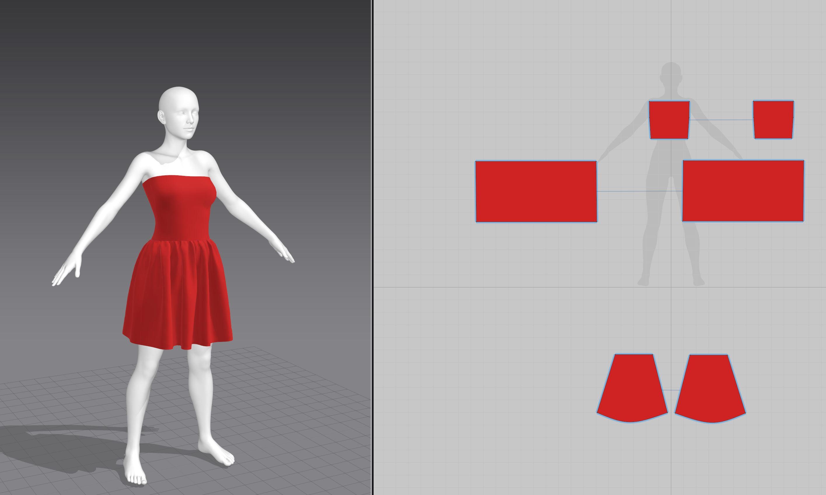 Marvelous stage (Modelling basemesh for dress)