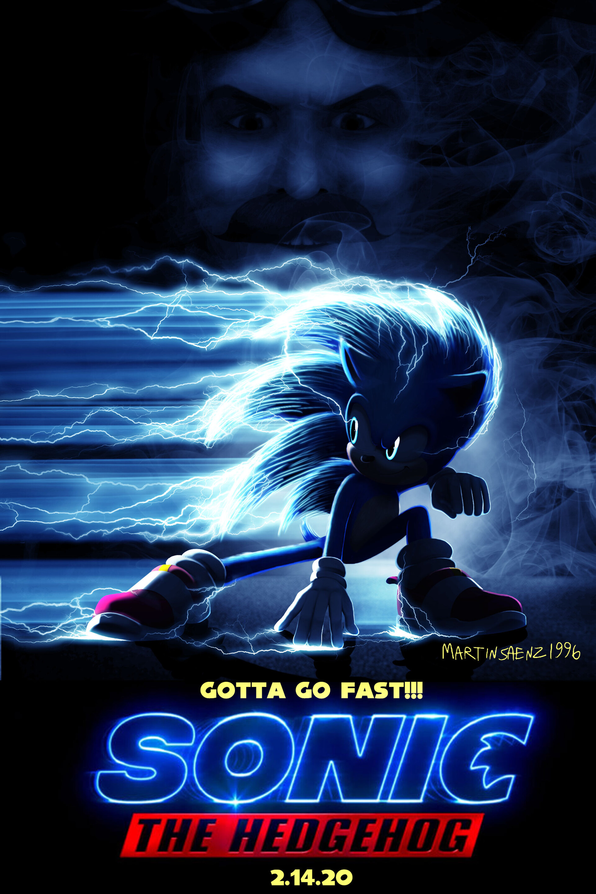 Artstation Sonic The Hedgehog Movie Poster Mockup Martin Saenz