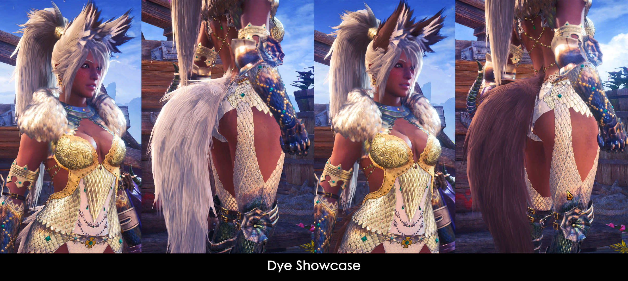 Hair is dyeable to suit any hunter's cosmetic needs!