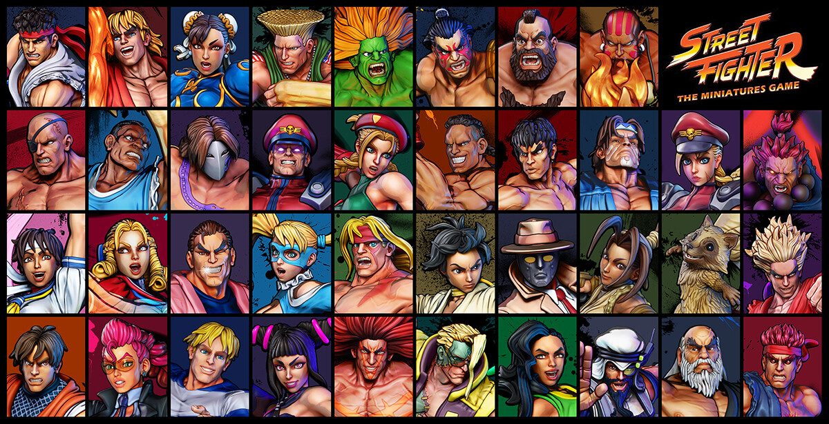 Street Fighter Minis - Full Roster