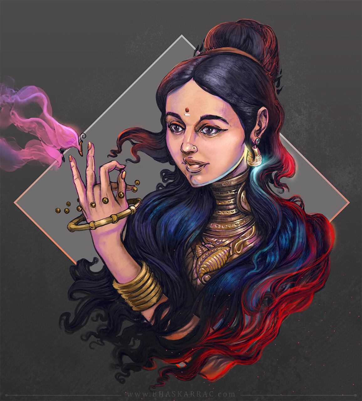 Samsara in her hand