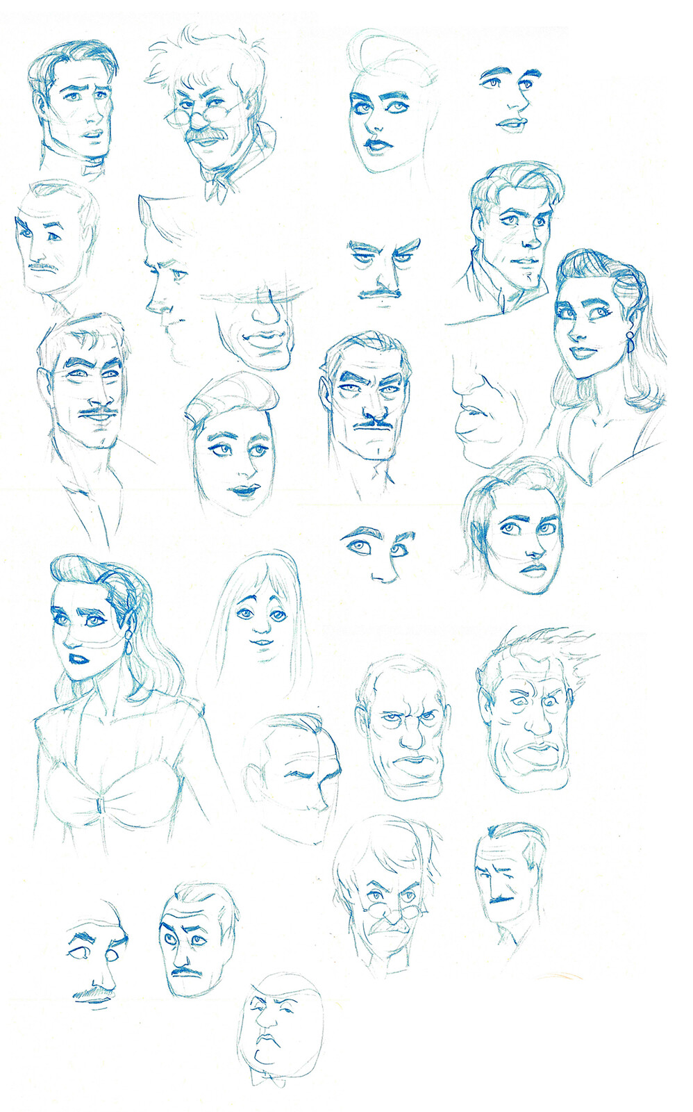 Some doodles while watching The Rocketeer
