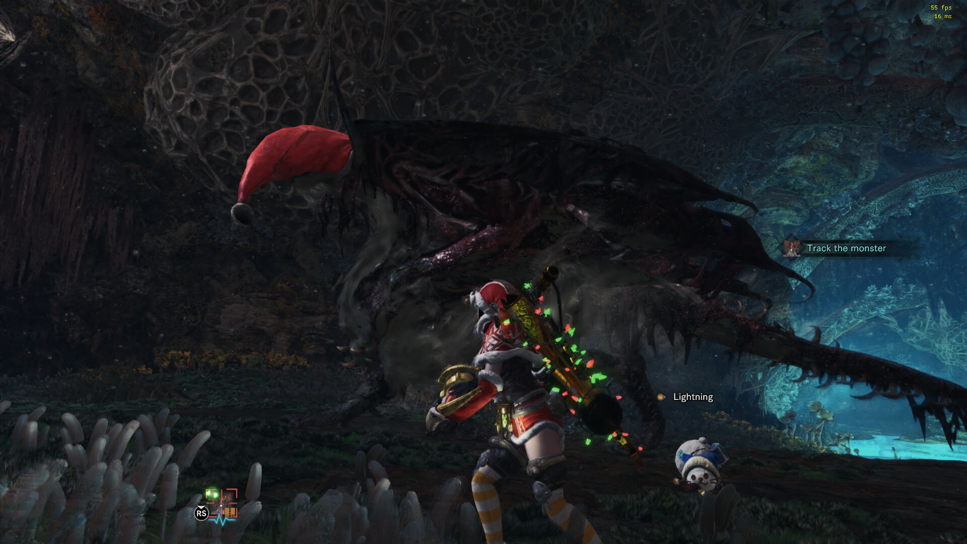 Shot in-game. Thanks to Nack for porting the armor from MHO and Lyra for the Vaal's santa hat. Also for letting me give it some droopy physics. Screenshot by Asterisk.