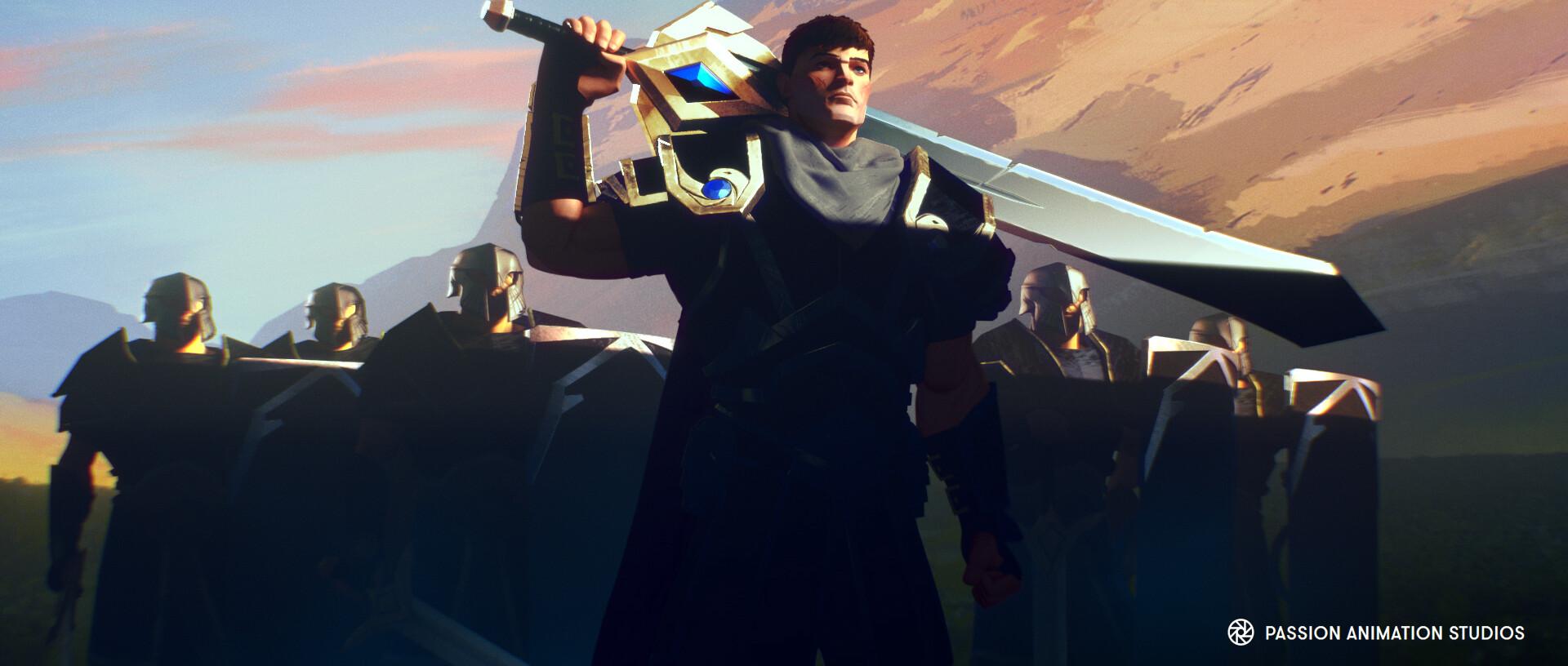 Garen's sword, basic sword and shield modeling