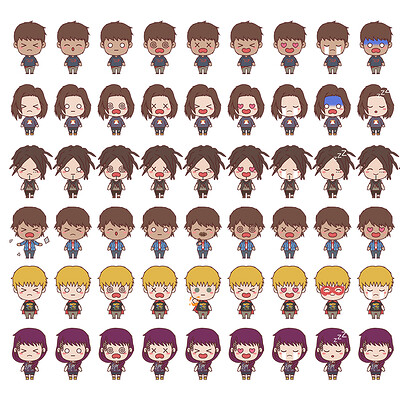 Jan wah li lis2 emoji collection