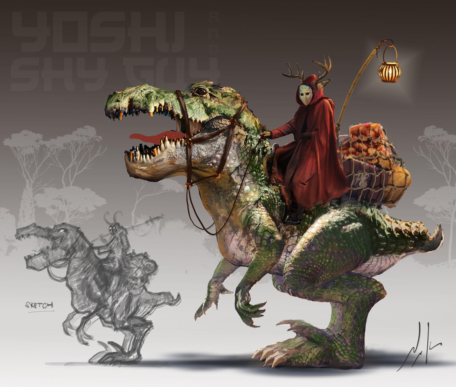 Yoshi and ShyGuy