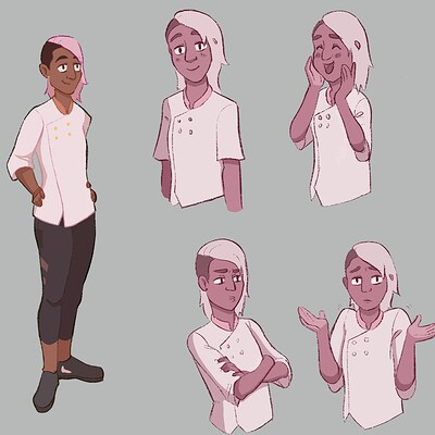 Sanjana: Expression Sheet