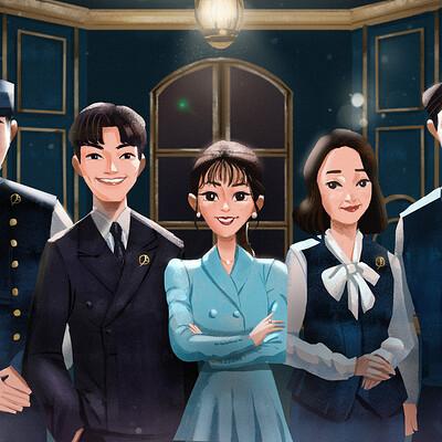 Qi xyuan tan hotel del luna fan art