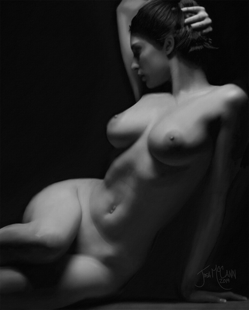 Out Of Darkness - Digital Figure Drawing With Progress Video