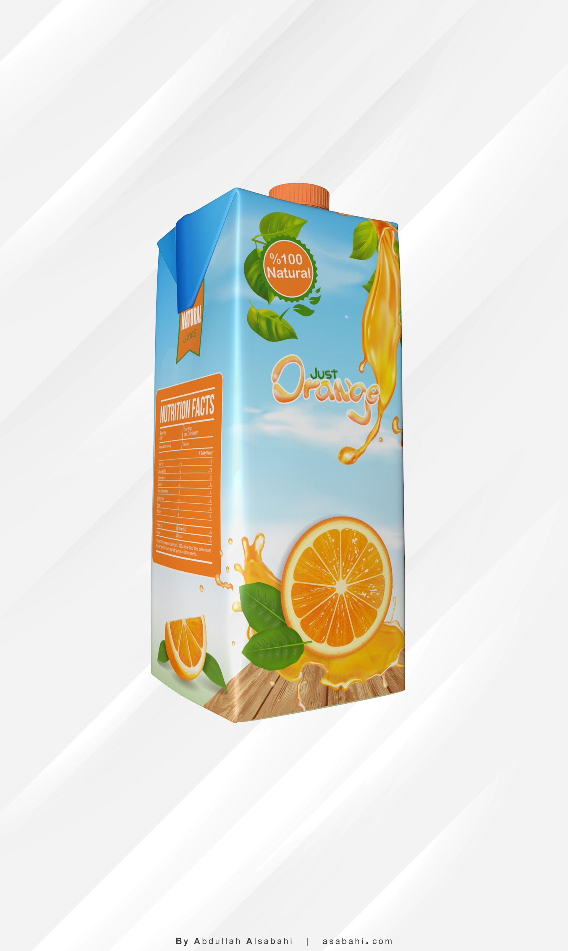 Packaging orange juice