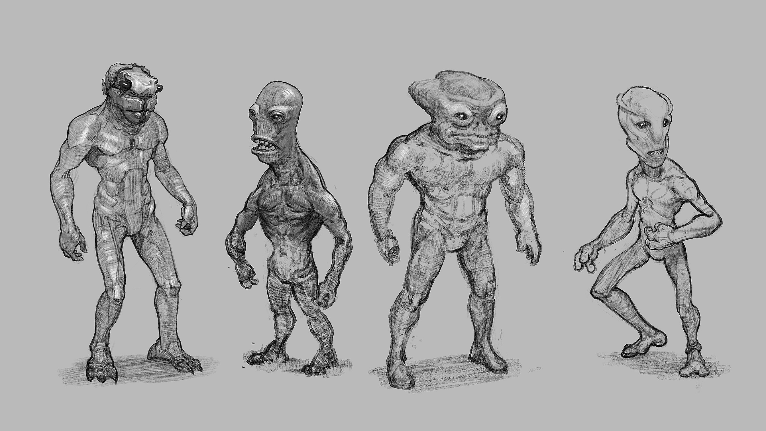 Some alien buggers that might inhabit this  world.