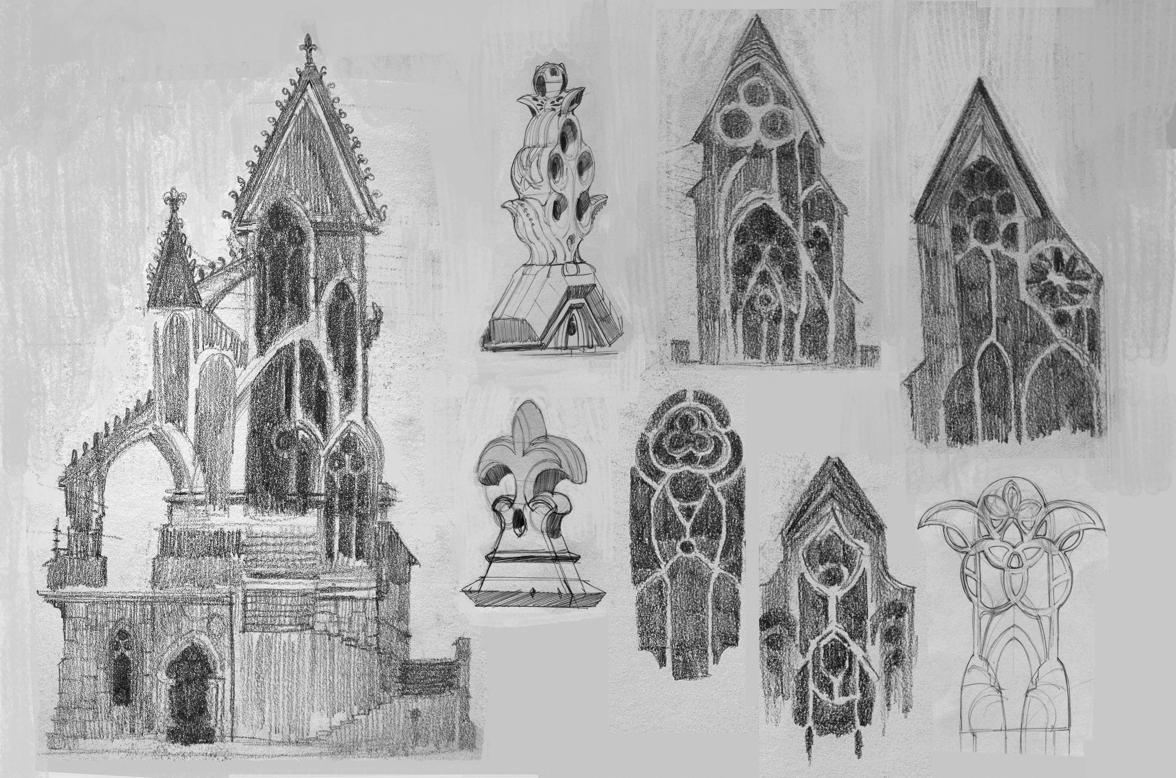 Exploring the positive and negative shape language of gothic architecture.