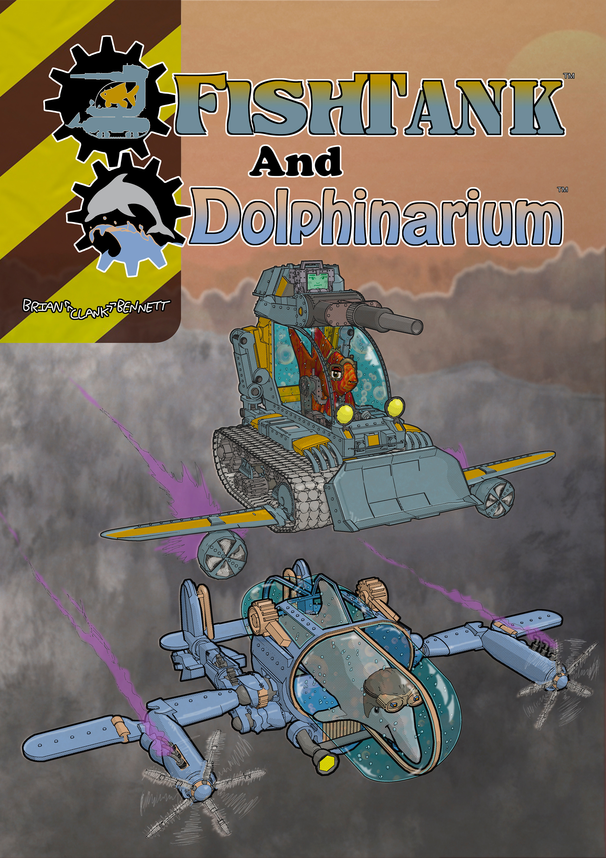 Front Cover from FishTank & Dolphinarium comic book.