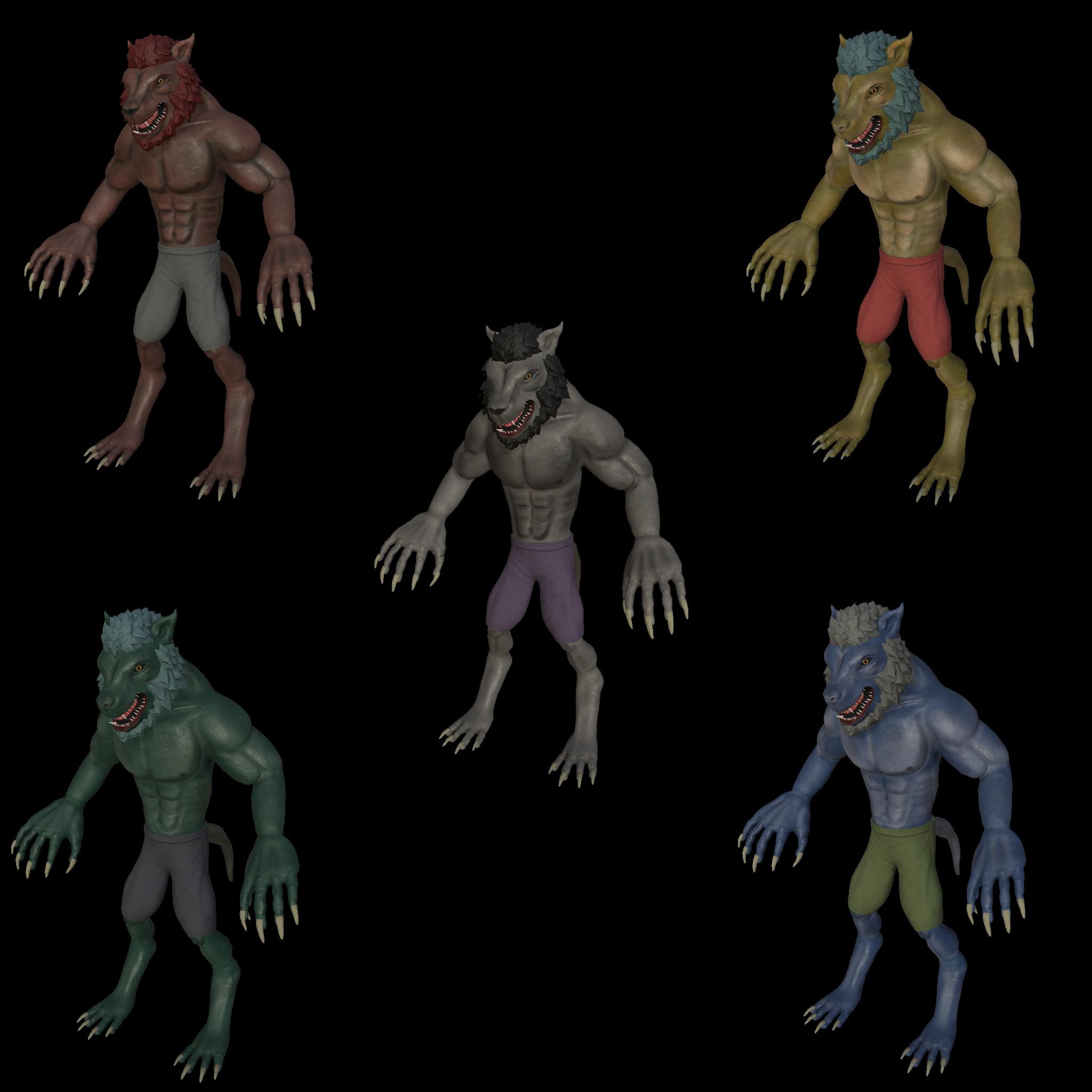 Different color variants.