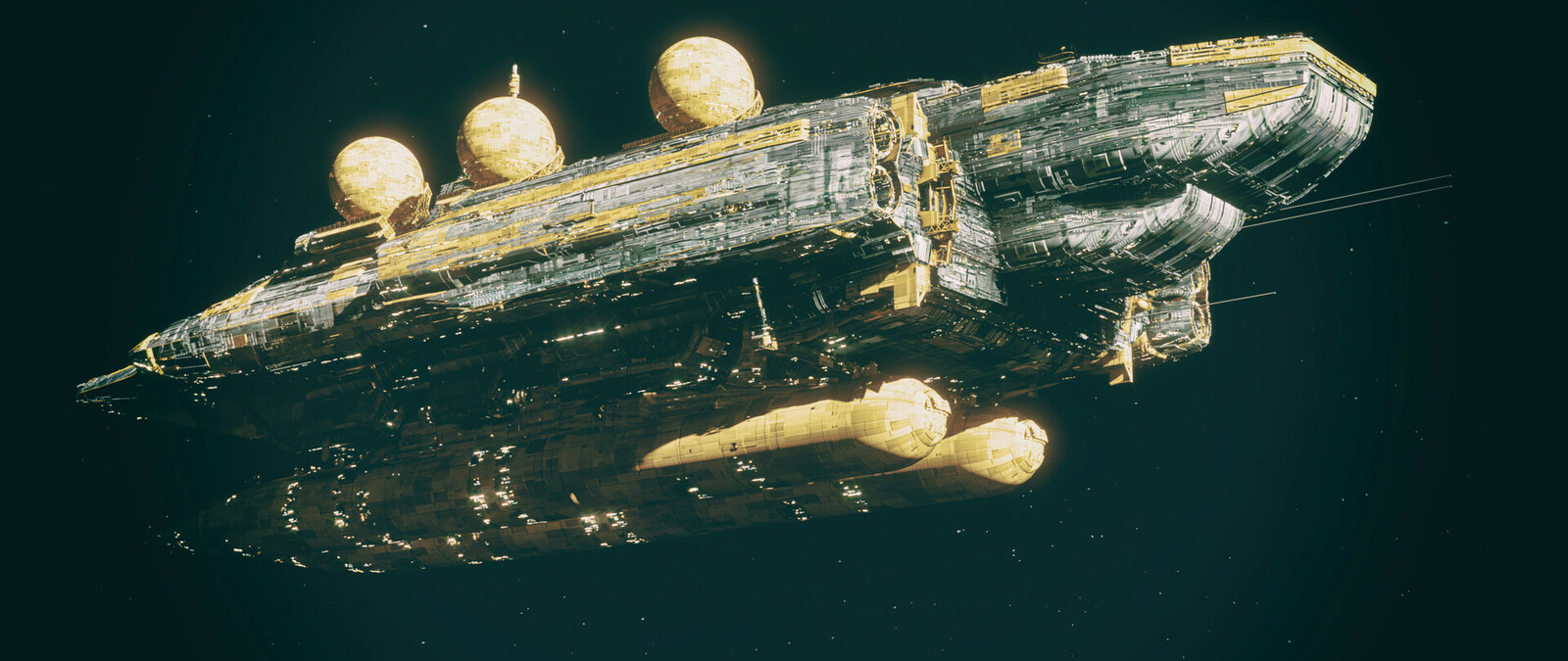 UNS Ticonderoga missile barge