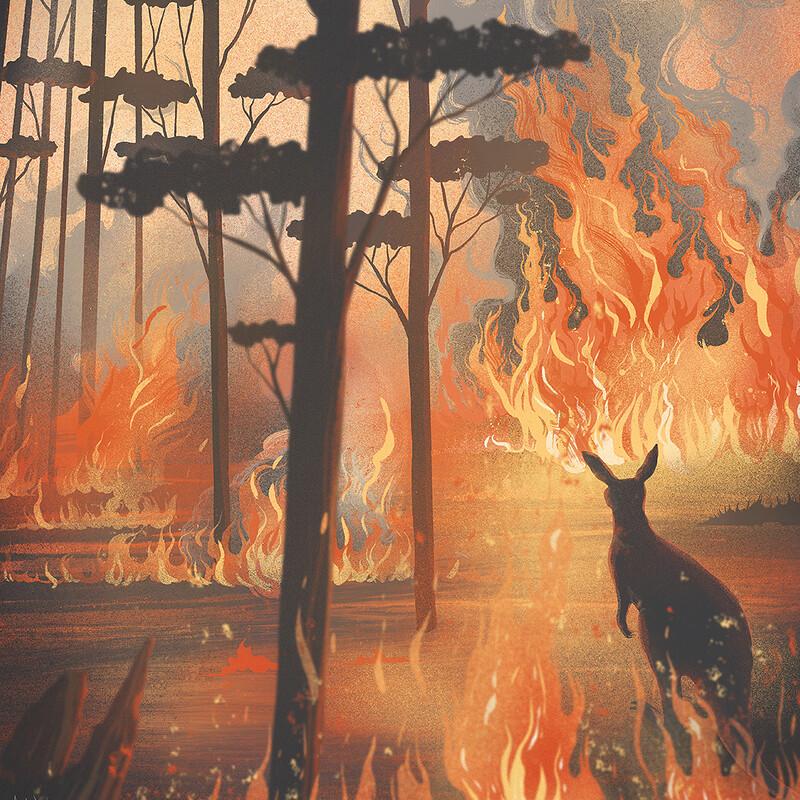 Fire in Australia.