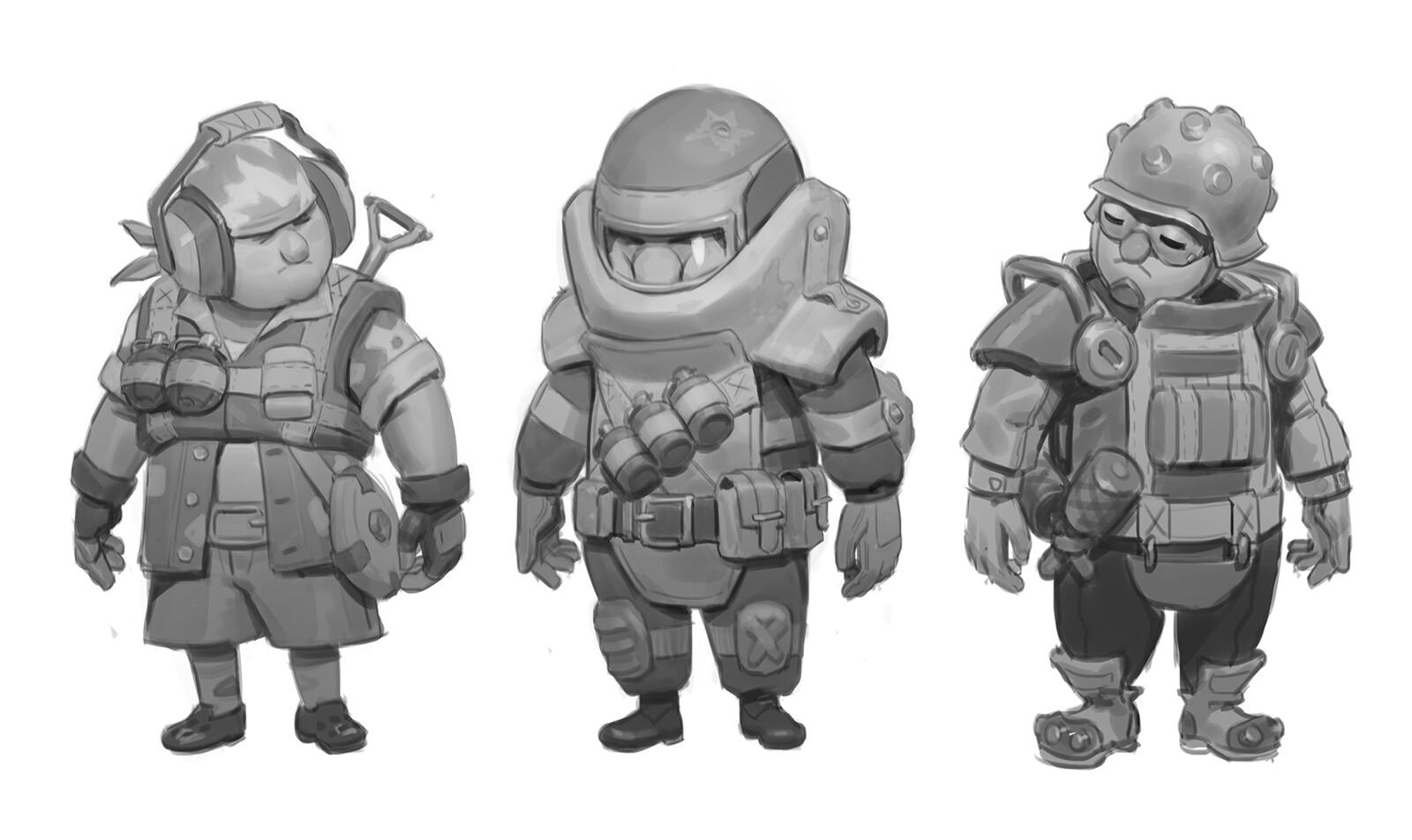 Cartoon soldier concepts