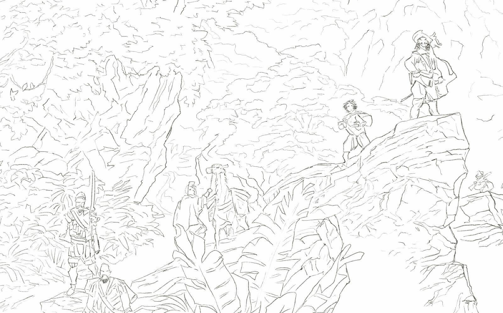 El Buscón en Las Indias - Drawing detail Digital 2D - december 2019