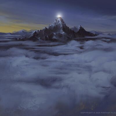 Nele diel above the clouds