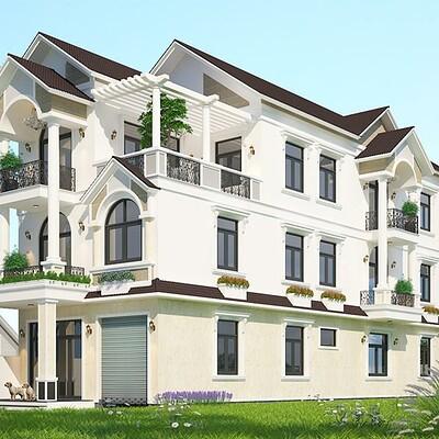 Neohouse architecture bia thiet ke biet thu vuon mai thai hien dai tai an giang