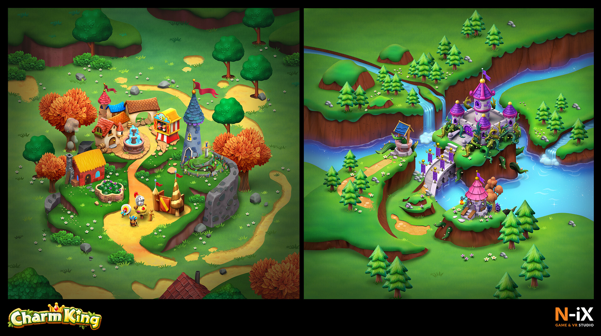 Charm King Examples of map artwork