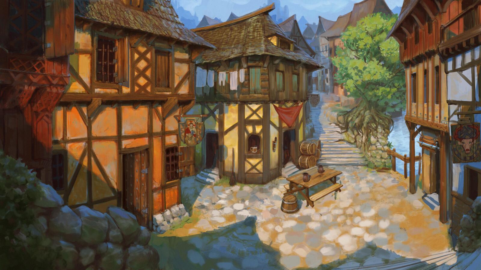 Strasbourg inspired medieval city