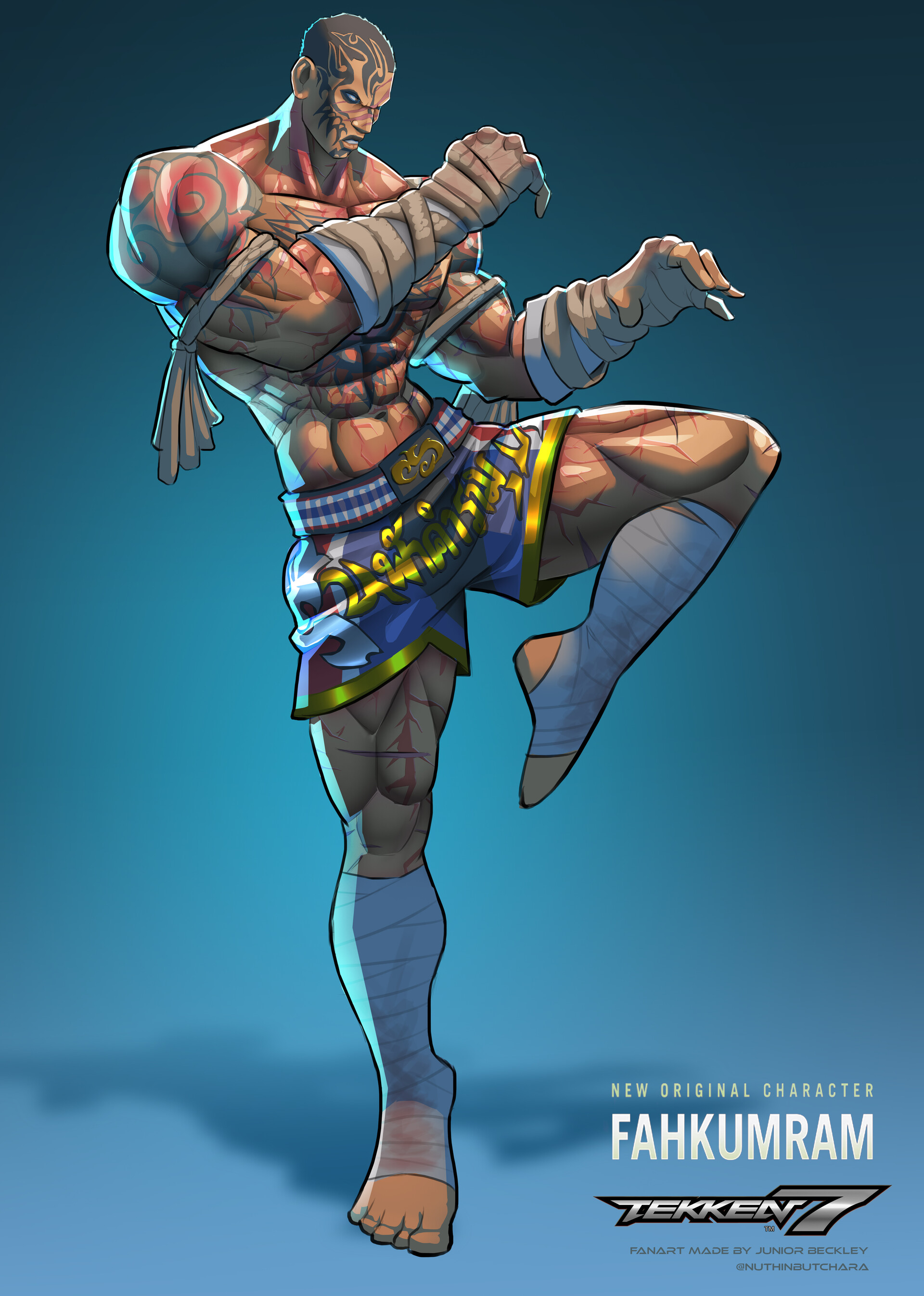 Artstation Tekken 7 Fahkumram Fanart Junior Beckley