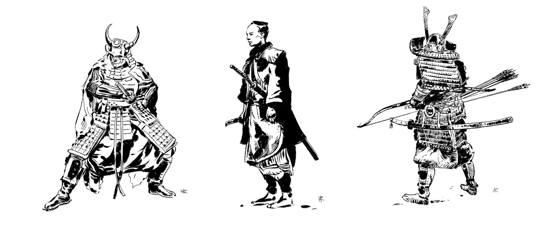 Artstation Samurai Character Sketches Jarek Radecki