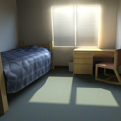 Dorm Room Rendering