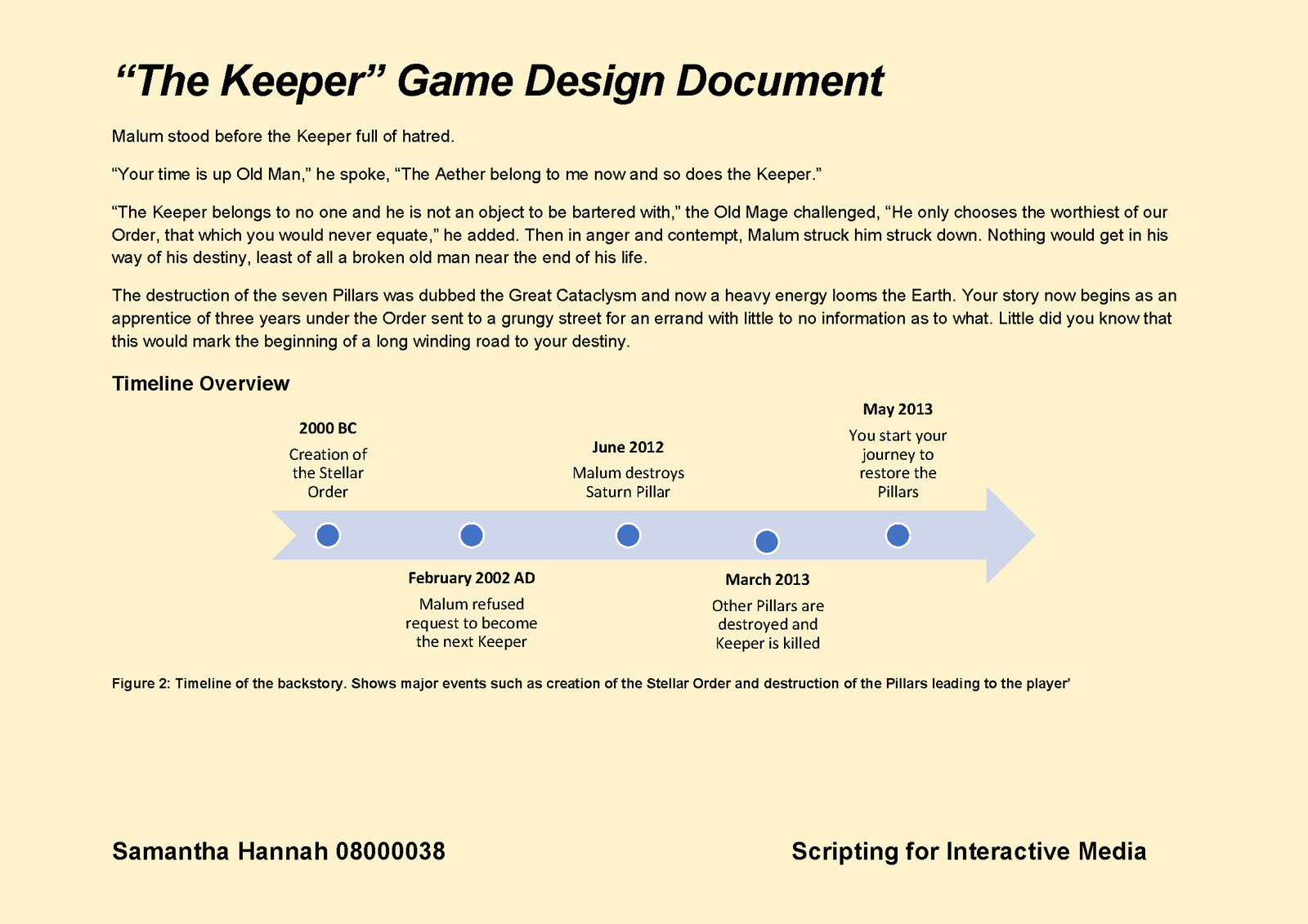Game Design Document Page 4
