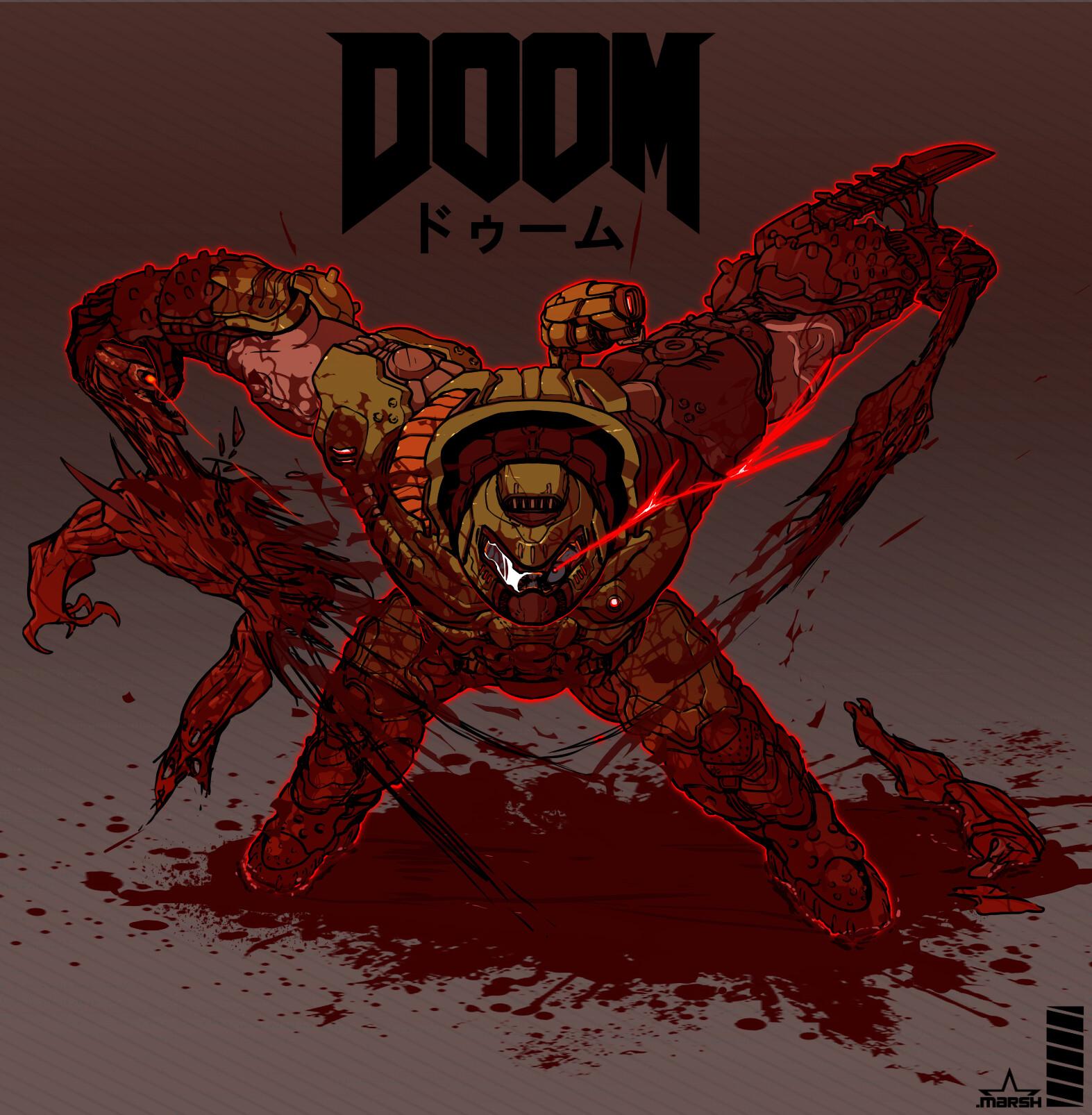 Artstation The Doom Slayer Bryton Spurgeon