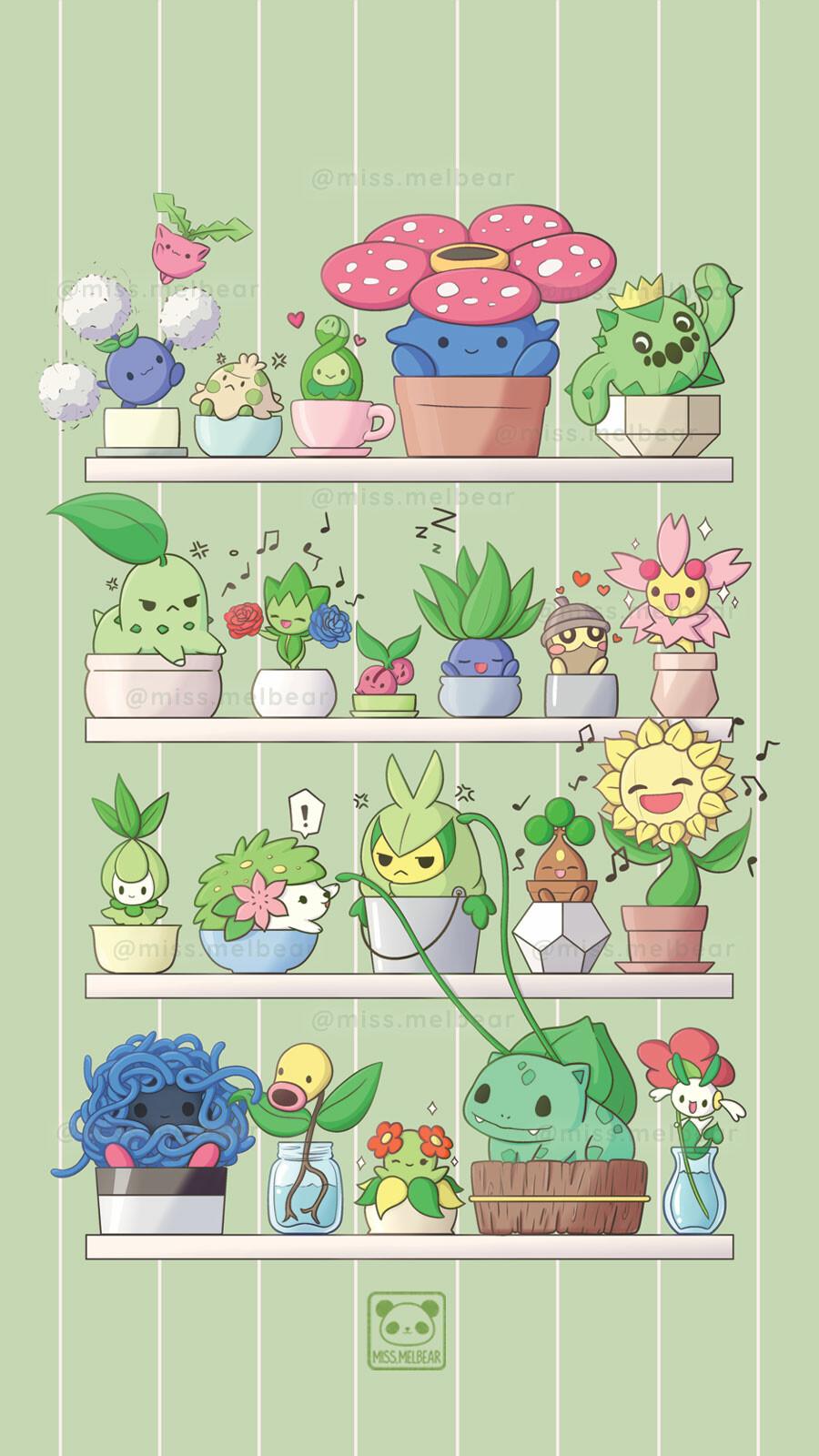 artstation aesthetic pokemon grass edition melissa chan artstation aesthetic pokemon