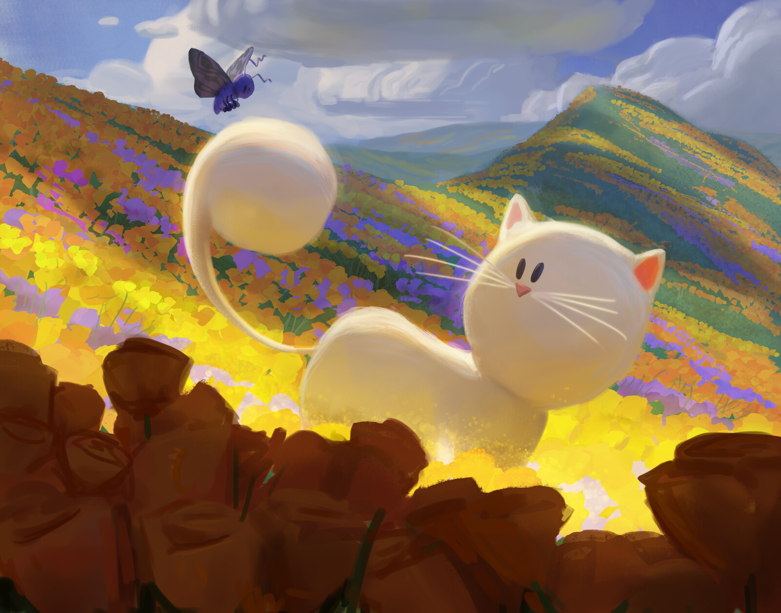 Cat and Moth- Promotional Paintings