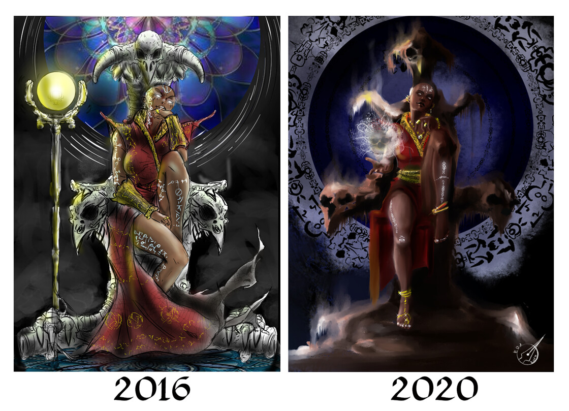 Compared to the original art made in 2016