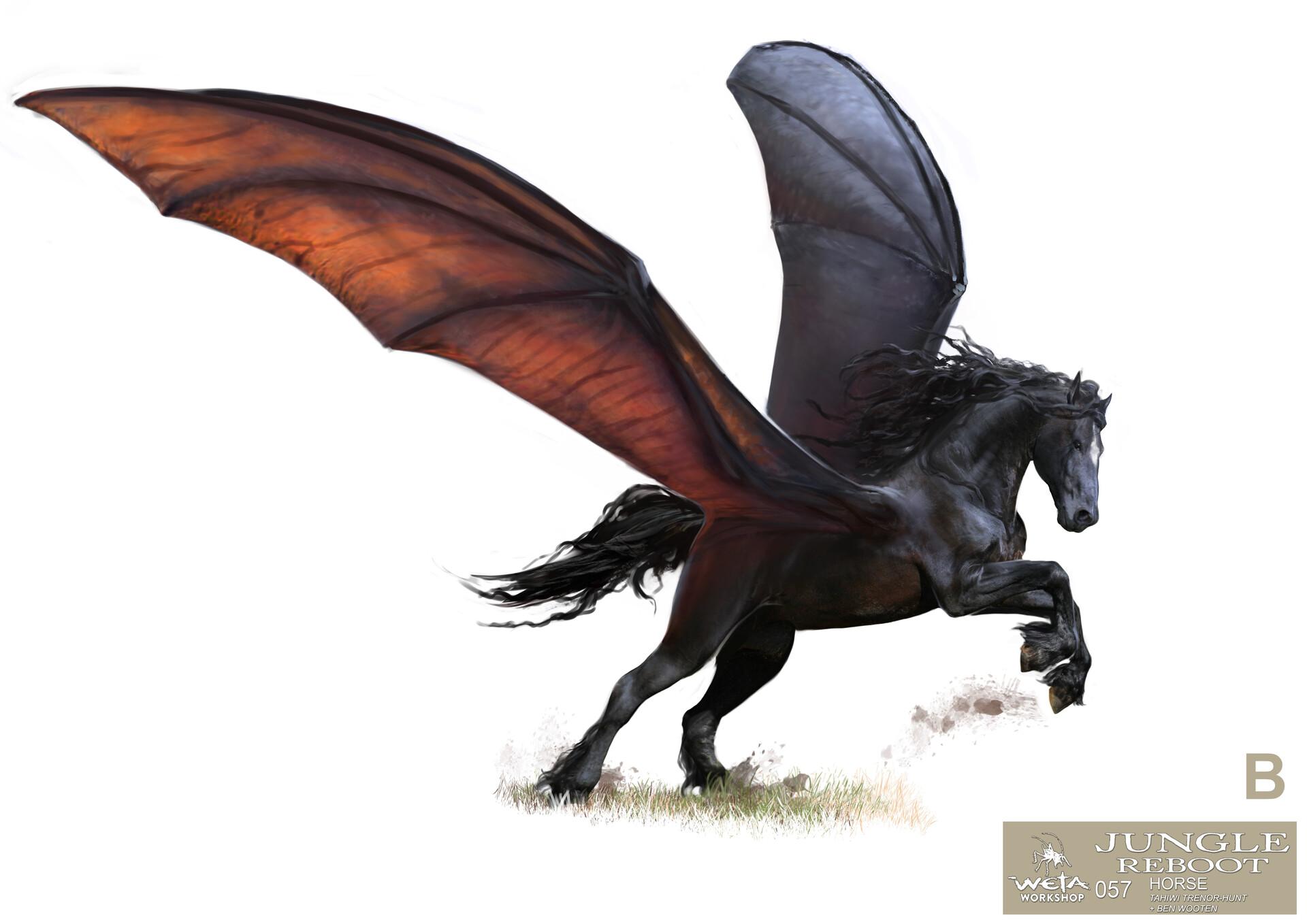 Weta workshop design studio 057 jr horse open wings 03 tth