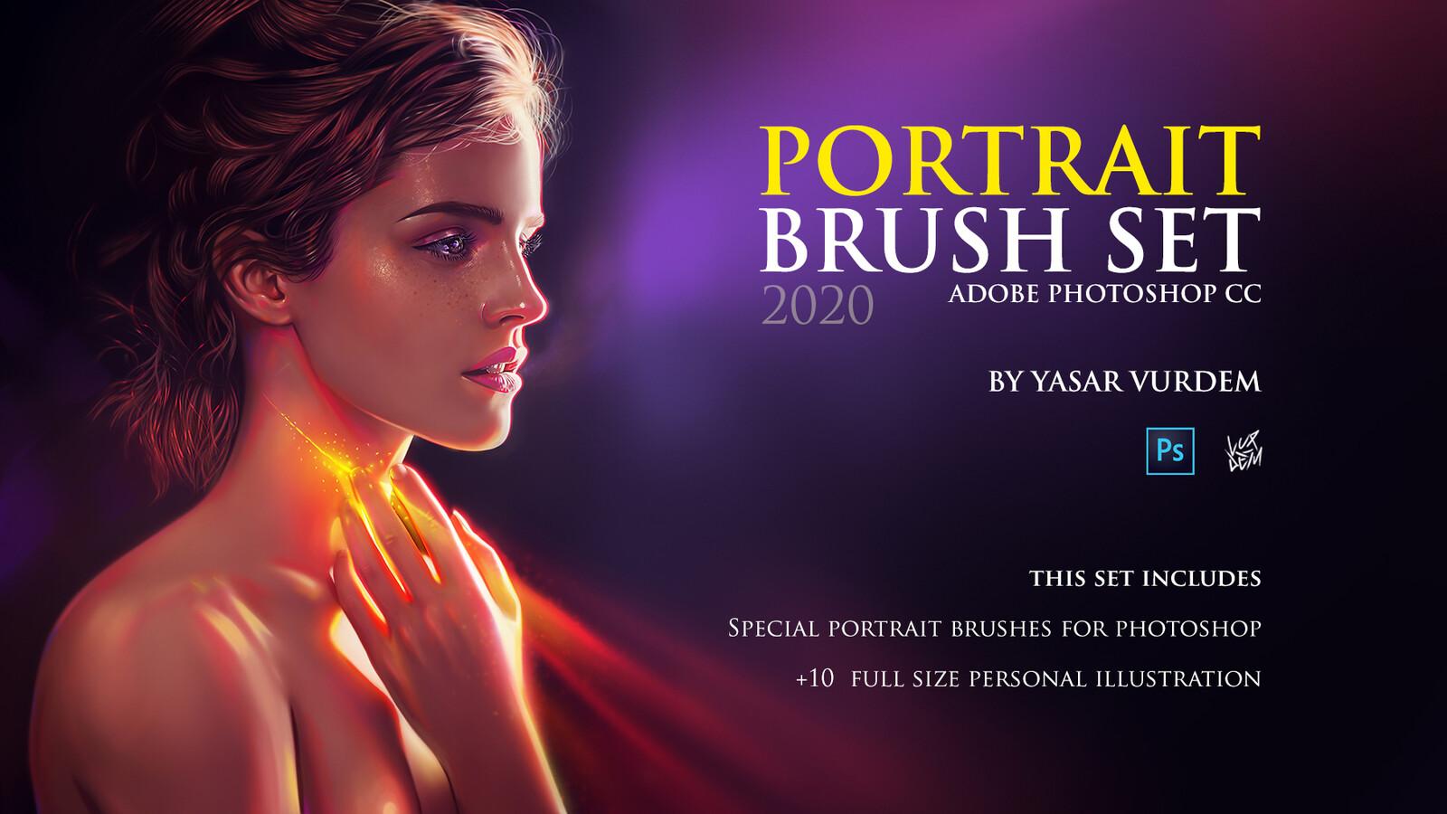 A Set of special brushes in categories includes, sketch, hard, soft, skin, freckles, hair, eye brushes  Download Link: https://www.artstation.com/vurdem/store/YxPB/portrait-brush-set-for-photoshop