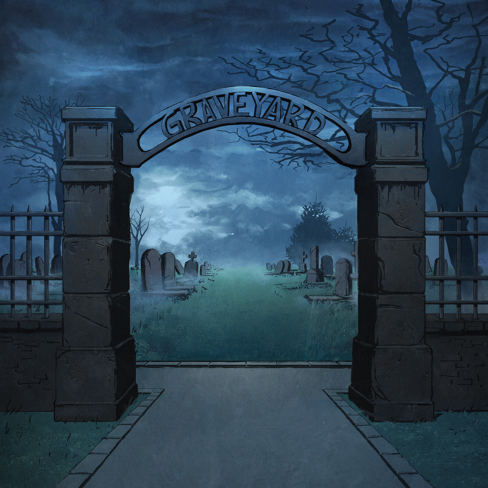 Backgrounds for FRND - Graveyard (music video)