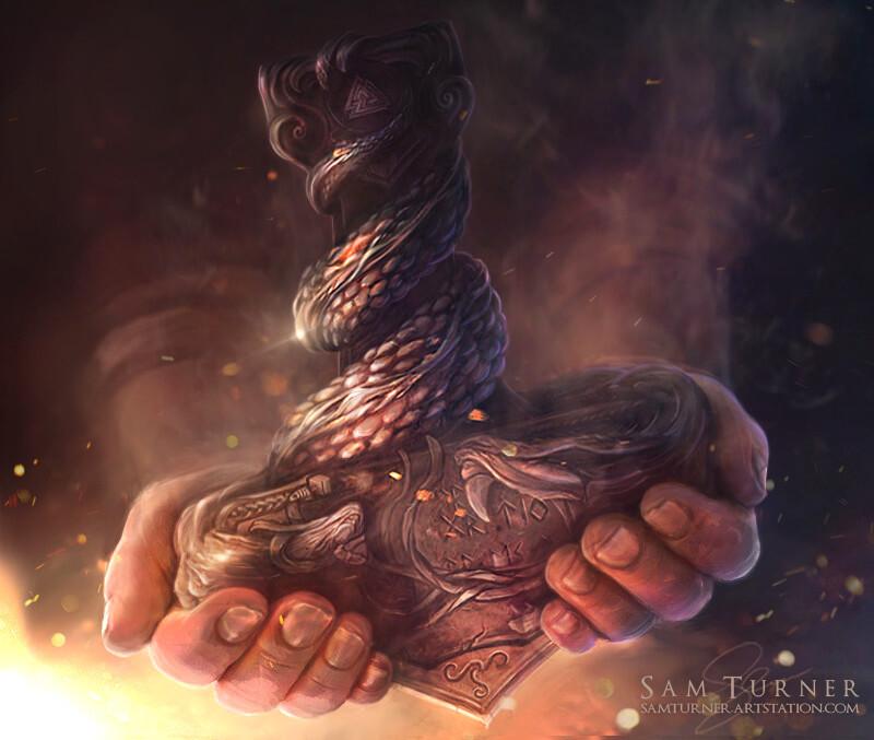 The creation of Mjolnir.