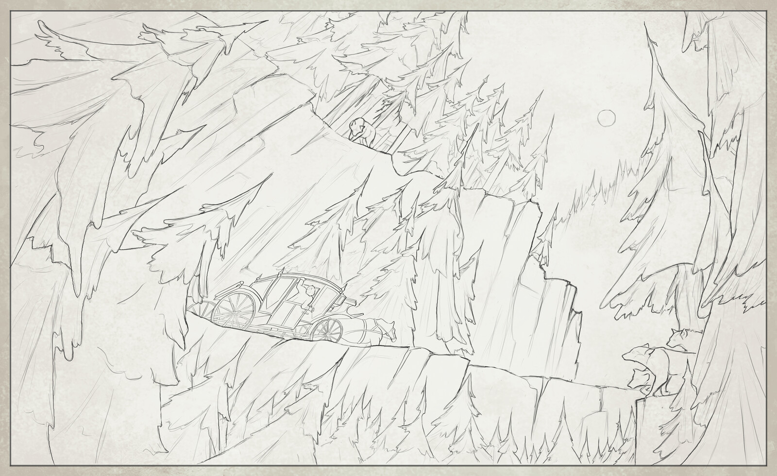 Borgo Pass Location Exploration - Preliminary Sketch