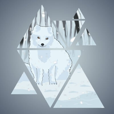 Masato lin snow fox wallpaper final 3