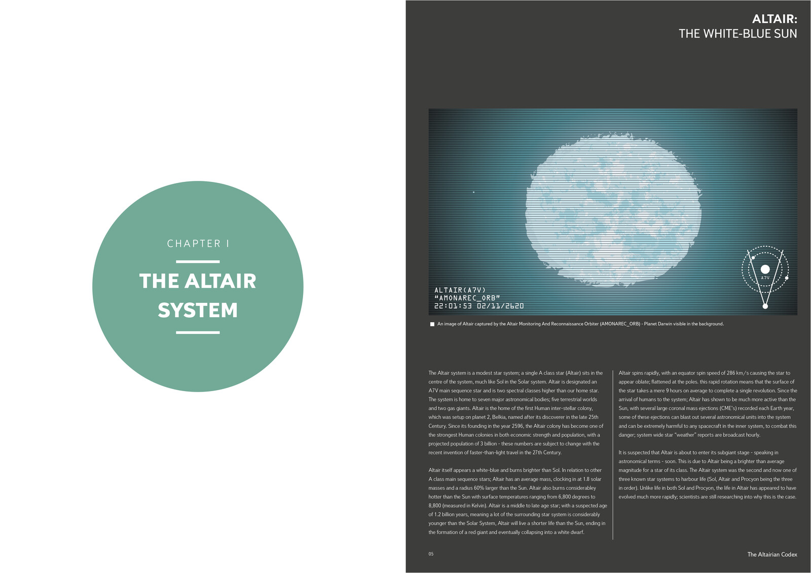 Chapter 1 and Altair pages