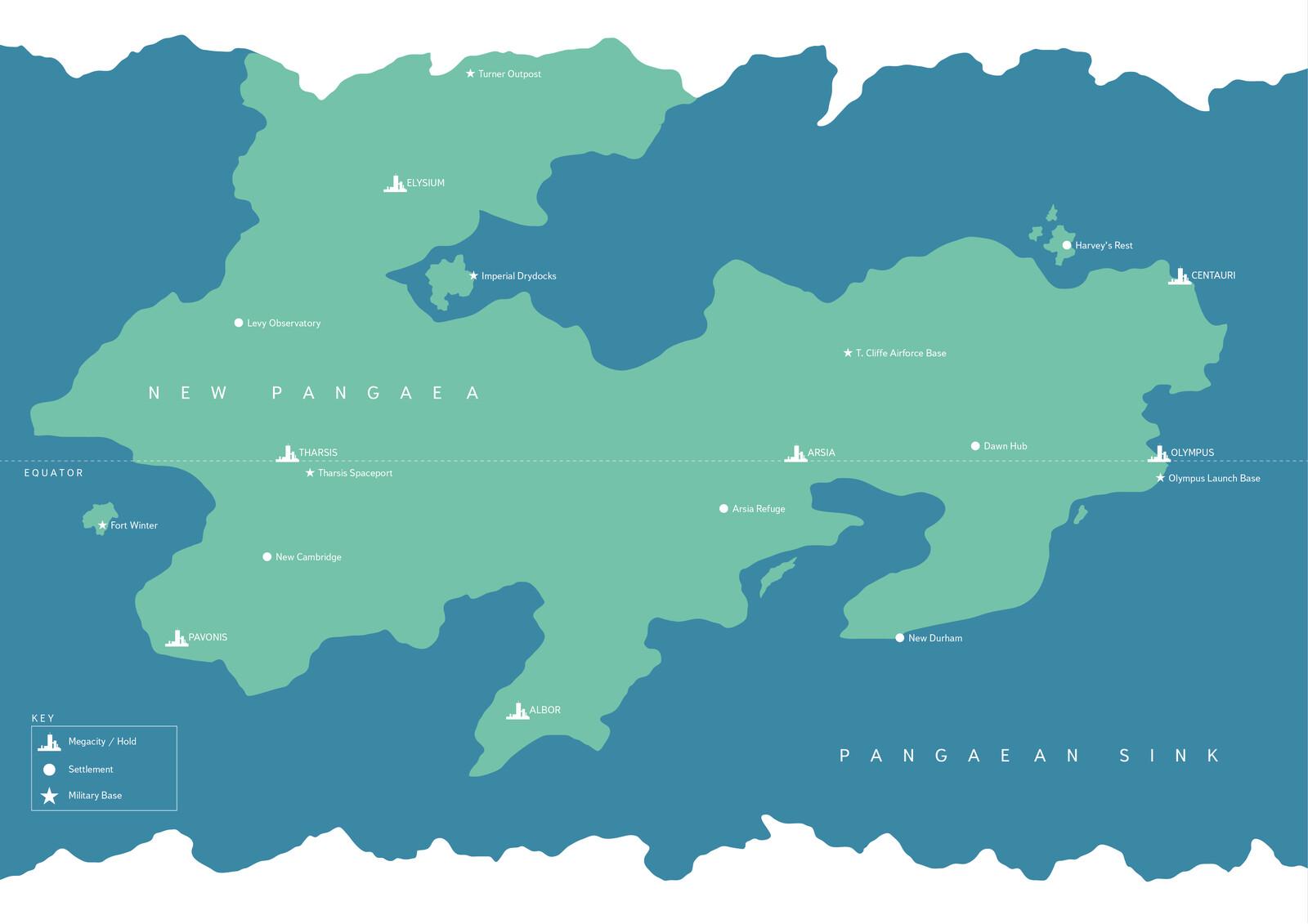Map of planet Belkia